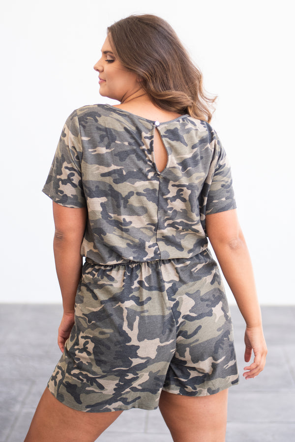 On The Run Romper, Green