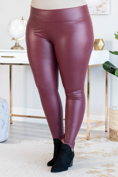 Going Groovy Leggings, Oxblood