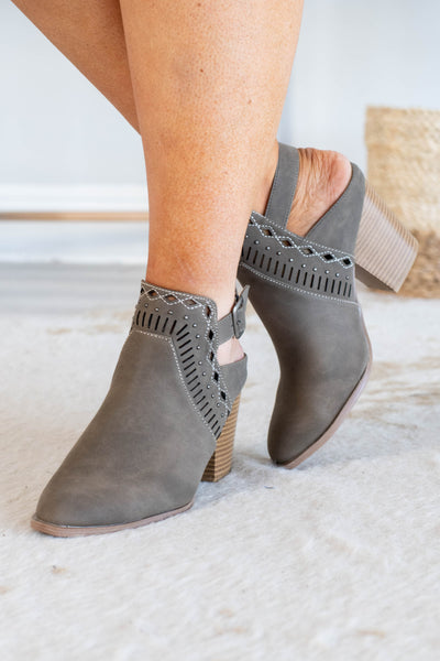 No Other Way Booties, Taupe