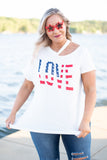 American Love Top, White