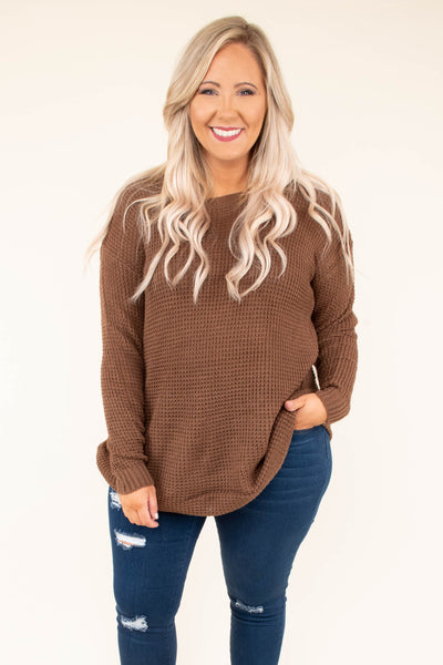 Know What I Mean Sweater, Mocha