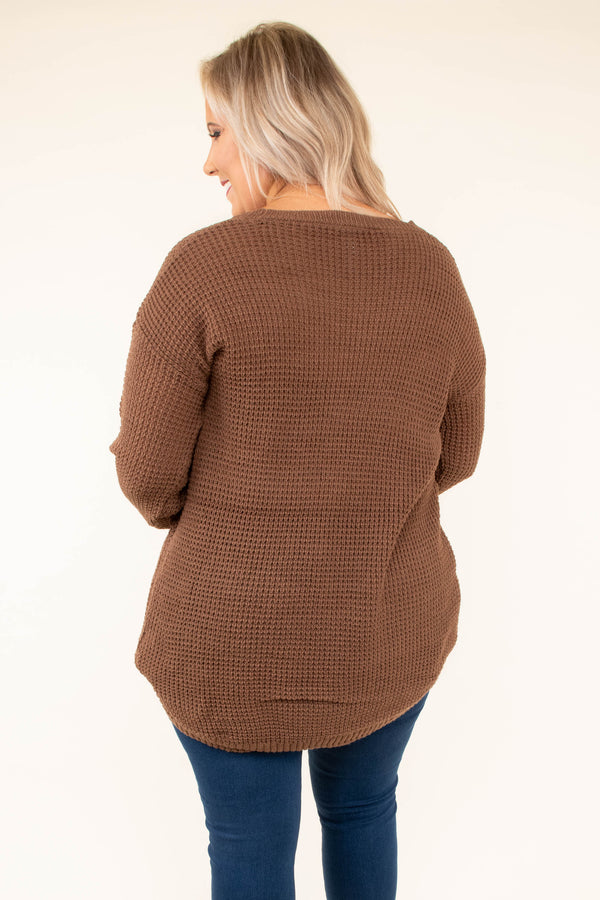 sweater, long sleeve, long, loose, brown, comfy, fall, winter