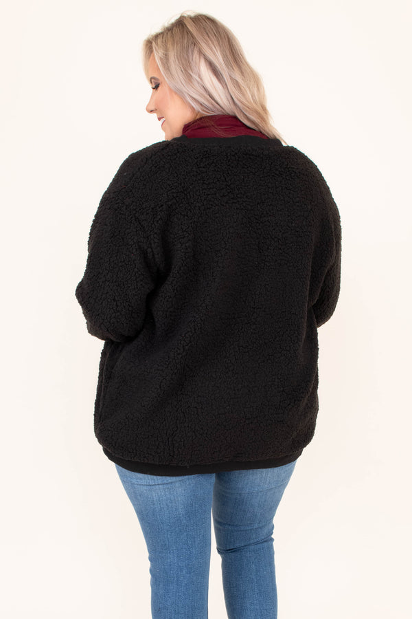 cardigan, long sleeve, bubble sleeves, pockets, button down, fuzzy, black, comfy, fall, winter
