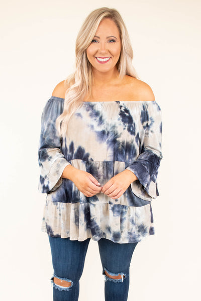 Stop And Take It All Top, Taupe-Grey
