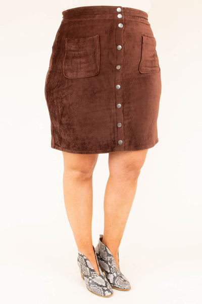 Early Dismissal Skirt, Dark Brown