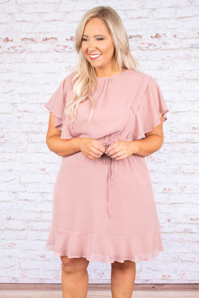 Cotton Candy Skies Dress, Mauve