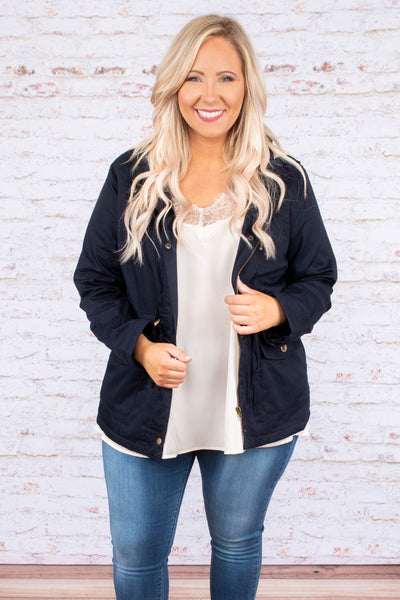 Whenever Or Wherever Jacket, Navy