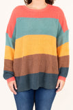 sweater, long sleeve, cable knit, coral, green, mustard, brown, navy, colorblock, comfy, fall, winter