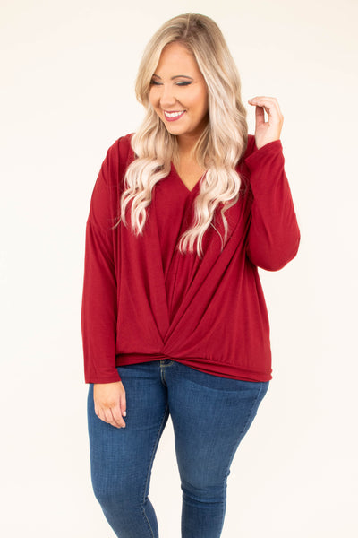 Brink Of Love Top, Merlot