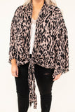 kimono, long sleeve, knotted hem, draped, bell sleeves, mocha, black, leopard, comfy, outerwear
