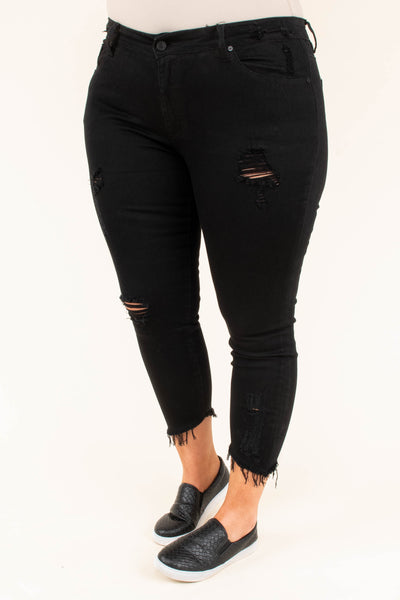 Get Down To Business Skinny Jeans, Black