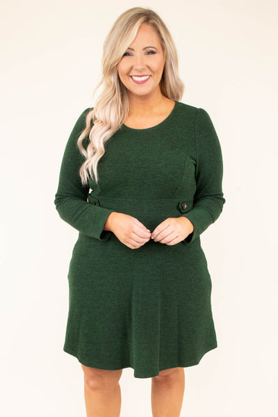 I've Been The Queen Dress, Forest Green