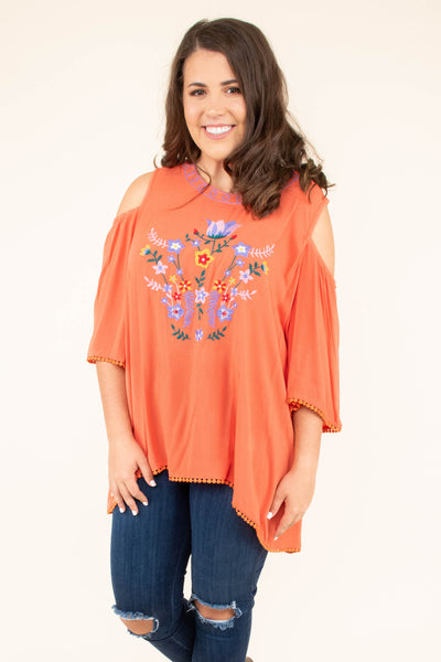 Sunset Of Summer Top, Coral