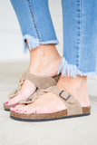 Make Things Easy Sandals, Taupe