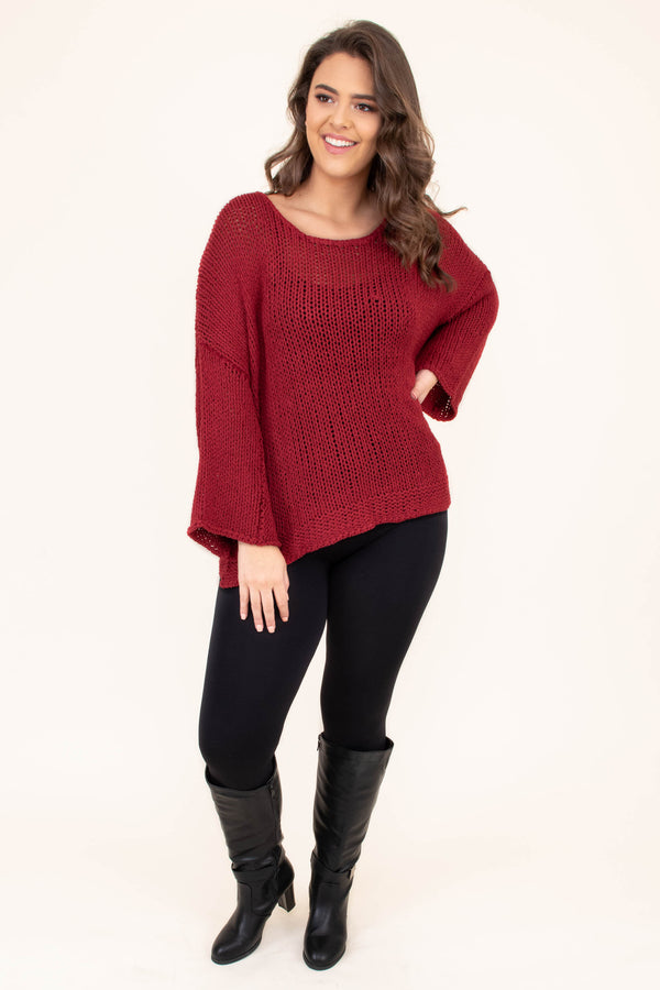 sweater, long sleeve, bell sleeves, burgundy, flowy, comfy, fall, winter