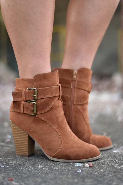 Stomp and Shake Booties, Cognac