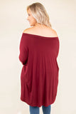 Cozy Mornings Tunic, Burgundy