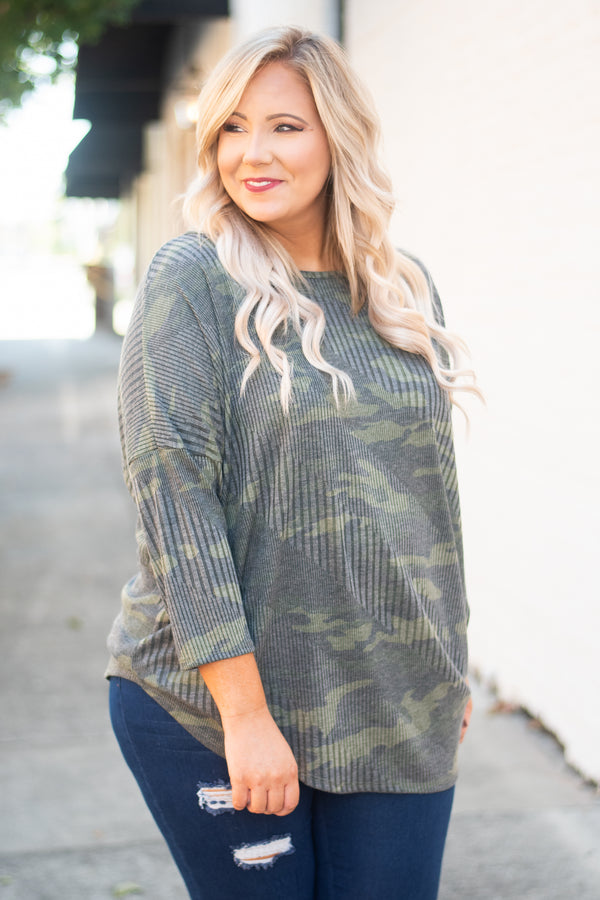 Face The Challenge Top, Army Green