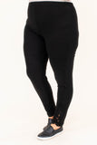 leggings, long, skinny, black, comfy, stretchy, lace ankle details