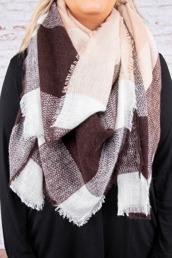 Big City Nights Scarf, Beige