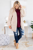 top, cardigan, open pocket, ivory, long sleeve, soft, comfy