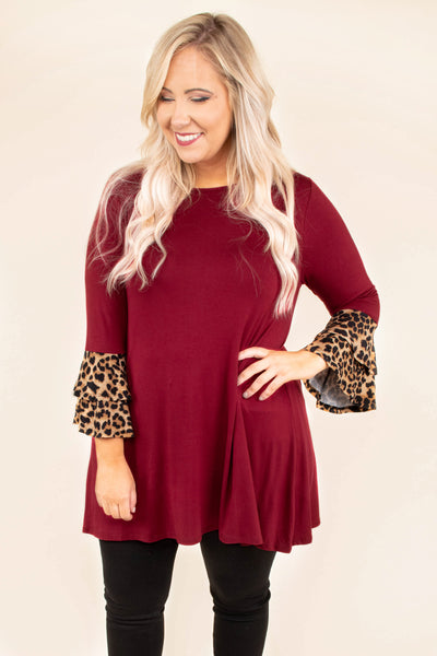 Nobody's Perfect Tunic, Burgundy