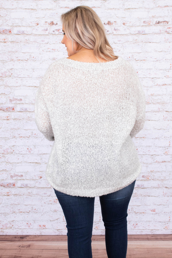 shirt, long sleeve, vneck, knitted, gray, comfy, loose, fall, winter