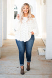 top, sweater, ivory, long sleeve, knit, off the shoulder, flowy, comfy, cozy
