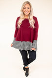 Lead By Example Tunic, Cabernet