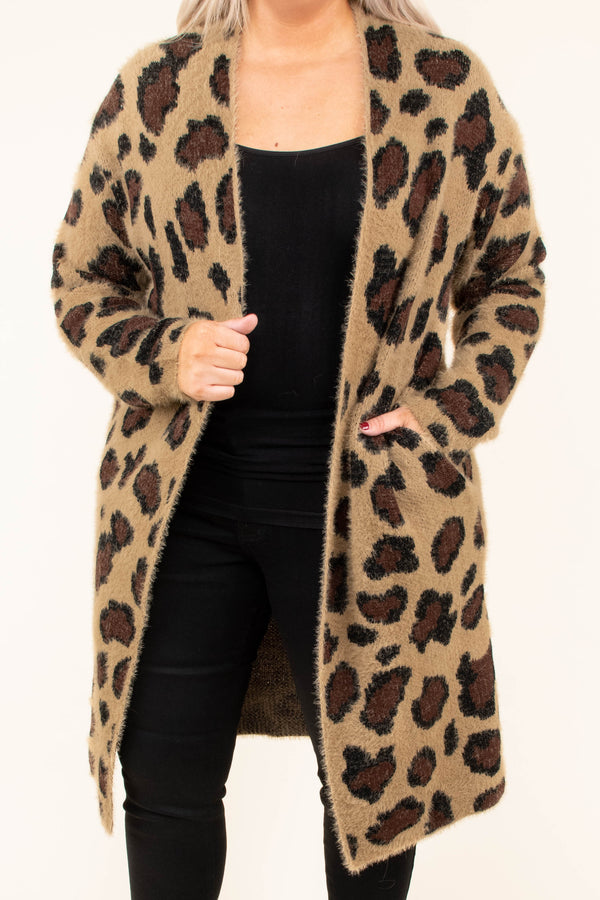 cardigan, long sleeve, long, fuzzy, brown, black, cardigan, comfy, outerwear, fall, winter