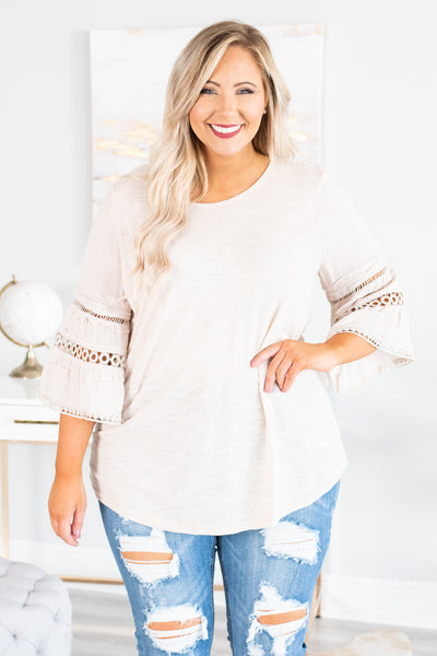 Saved For Someday Top, Taupe