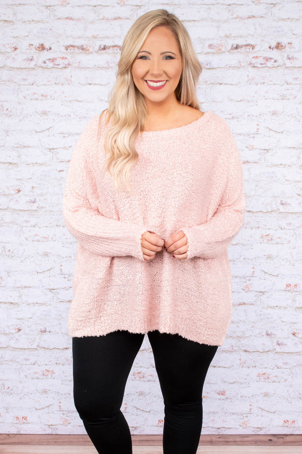tunic, long sleeve, flowy, long, fuzzy, pink, comfy, fall, winter