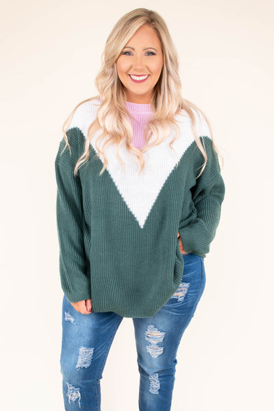 top, long sleeve, casual top, color block, green, white, pink, flowy, comfy