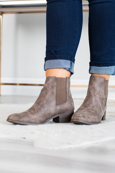 One Fine Day Booties, Brown