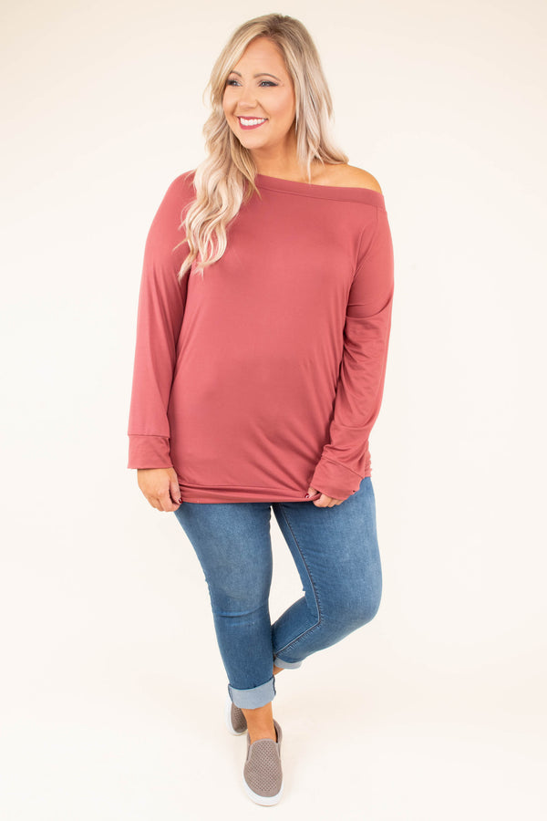 shirt, long sleeve, off the shoulder, fitted, red, comfy, fall, winter