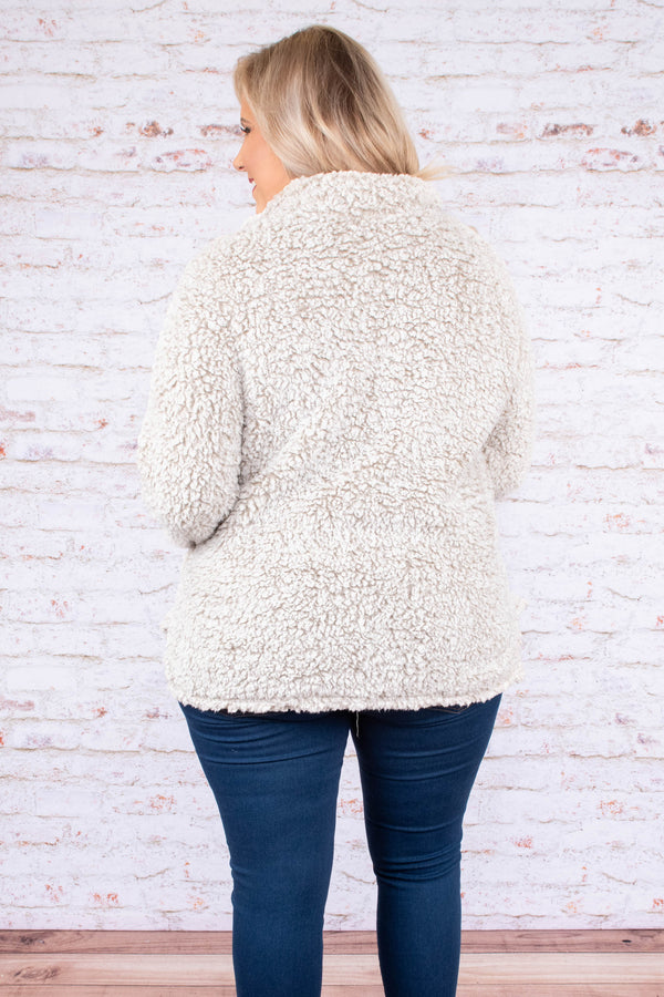 top, long sleeve, pullover, sand, ivory, fluffy, cozy, comfy, winter