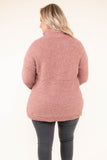 top, sweater, pockets, knitted, red, button detail, long sleeve