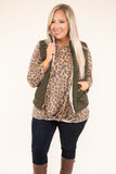 vest, zipper, furry inside, olive, pockets, short, comfy, outerwear, fall, winter