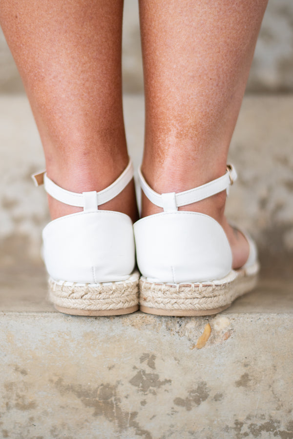 Walking On Clouds Sandals, White