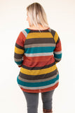 top, half sleeve, round neck, colorblock, multicolor, fall, twisted hemline, flattering