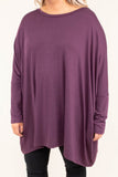 tunic, long sleeve, long, flowy, eggplant, comfy, fall, winter