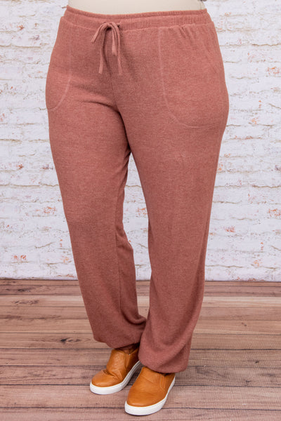 bottoms, lounge pants, red, solid, jogger