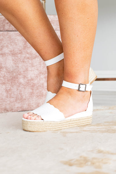 Dancing Until Daylight Wedges, White