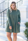 Bringing Comfy Back Dress, Olive