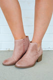 Simple Strut Booties, Blush