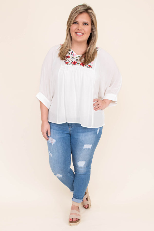 Simple Kind Of Lovely Blouse, White