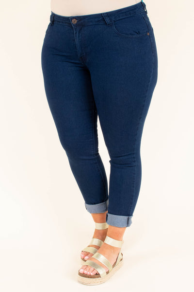 Tend To Travel Jeggings, Dark Wash