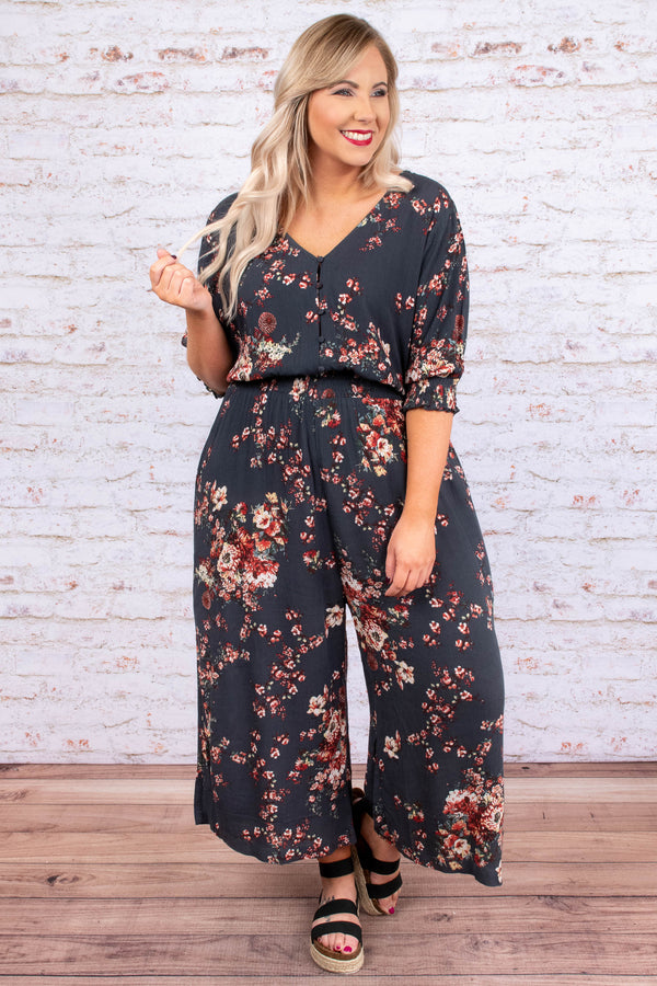 Gets Me Going Jumpsuit, Black