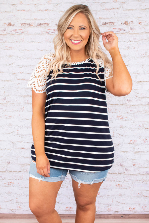Living Large Top, Navy