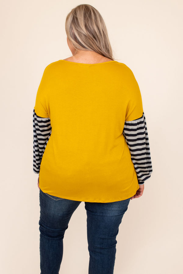 top, casual top, long sleeve, mustard, pink, blue, striped